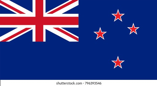 New Zealand Flag country. Illustrator vector