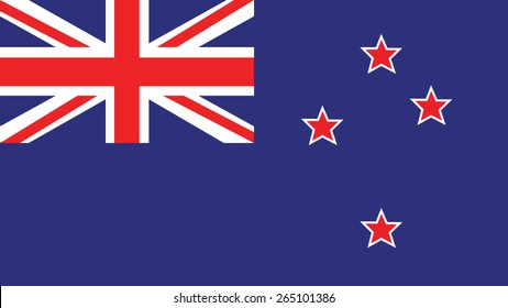 New Zealand  Flag for Independence Day and infographic Vector illustration.