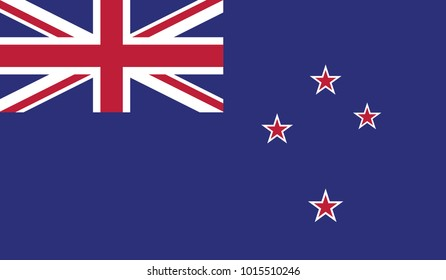 New Zealand flag, official colors and proportion correctly. National New Zealand flag. Vector illustration. EPS10