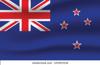 New Zealand  flag. Simple vector New Zealand  flag