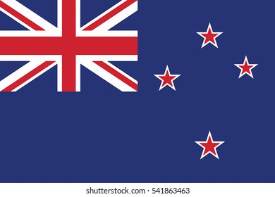 New Zealand Flag. Vector Format