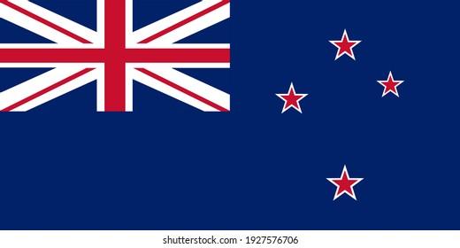 New Zealand flag vector illustration. Oceania territory. United Kingdom state.