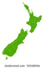 new Zealand green map