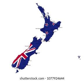 New Zealand Map Stock Images RoyaltyFree Images Vectors