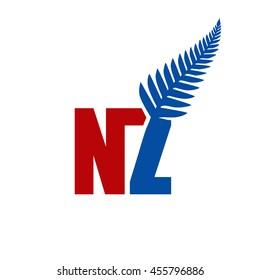 new zealand leaf logo - NZ initial logo