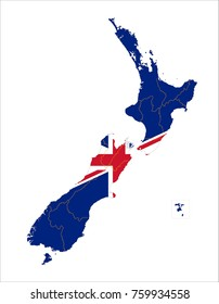 Vector map flag new zealand white vectores en stock 33010366 new zealand map on a world map with flag on white background gumiabroncs Choice Image