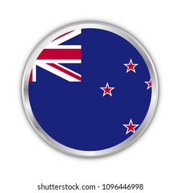new zealand national circle flag vector