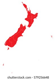 new Zealand red map