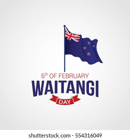 New Zealand Waitangi Day Vector Illustration.