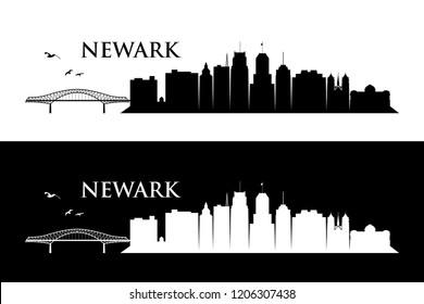 Newark skyline - United States of America USA - vector illustration