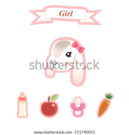 newborn baby greeting card template poster stock vector royalty