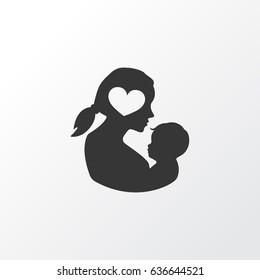 Newborn Baby Icon Symbol. Premium Quality Isolated Missus Element In Trendy Style.