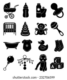 Vector Illustration Objects Related Baby Parenting Stock Vector