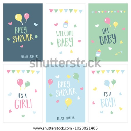 Newborn baby shower greeting cards stock vector royalty free newborn baby shower and greeting cards m4hsunfo