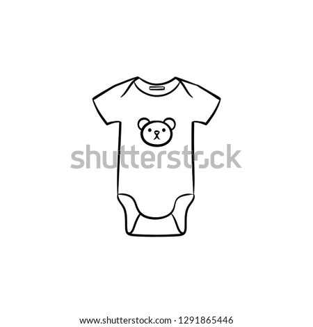 fa475d3a5dcf Newborn Baby Wear Hand Drawn Outline Stock Vector (Royalty Free ...