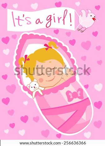 Newborn Vector Child Baby Asleep Baby Stock Vector Royalty Free