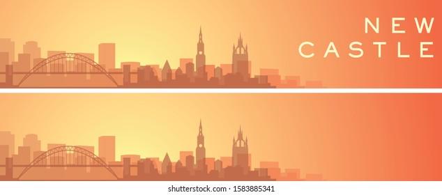 Newcastle Beautiful Skyline Scenery Banner