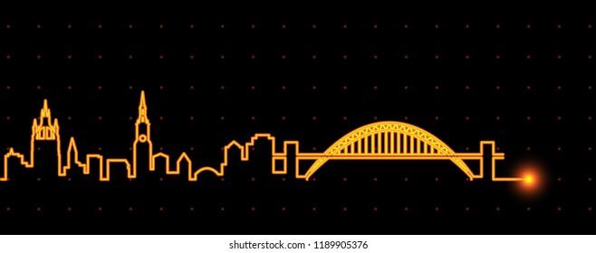 Newcastle Light Streak Skyline