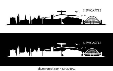 Newcastle skyline - vector illustration