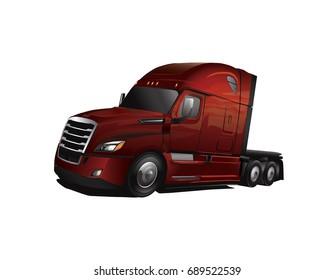 Newer Model Semi Truck Cab