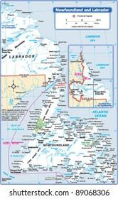 Newfoundland and Labrador Province Map