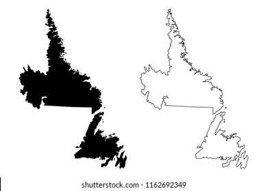 Map Of Canada Silhouette.Newfoundland Silhouette Images Stock Photos Vectors Shutterstock