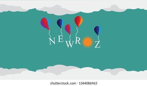 Newroz Kurdish new year origami vector