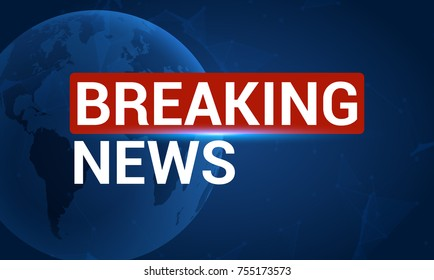 News broadcast background, breaking news vector channel graphic concept for tv breaking news.