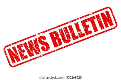 NEWS BULLETIN red stamp text on white