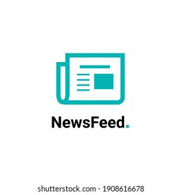 news feed newspaper logo concept for company