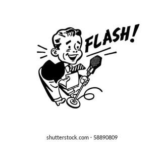 News Flash - Retro Clip Art
