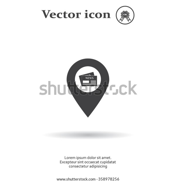news icon map pin