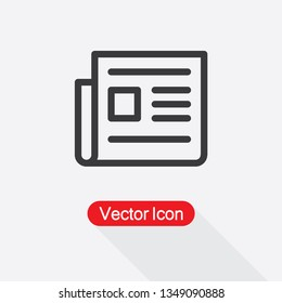 News Icon, Newspaper Icon Vector Illustration Eps10