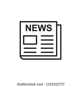 news icon, paper, newsletter, publication symbol