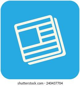 News icon, vector icon flat design