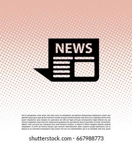 news icon. vector illustration