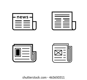 News icons. Newspaper vector illustration