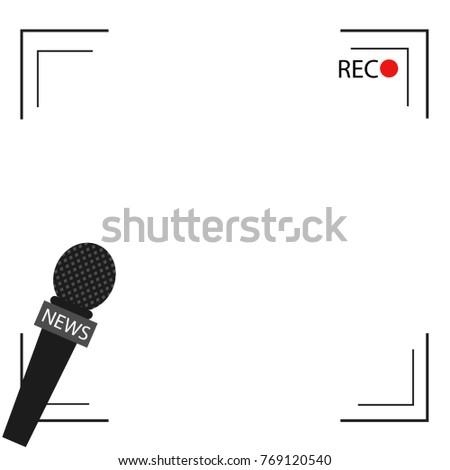 News Illustration On Focus TV Live Stock Vector (Royalty Free ...