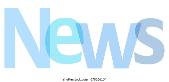 News letters banner blue on a white background.