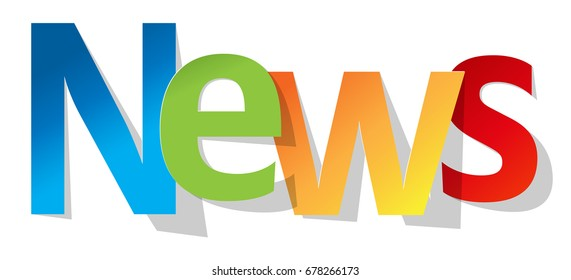 News letters banner multicolor on a white background.