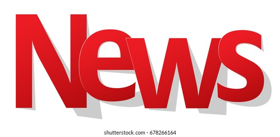 News letters banner red on a white background.