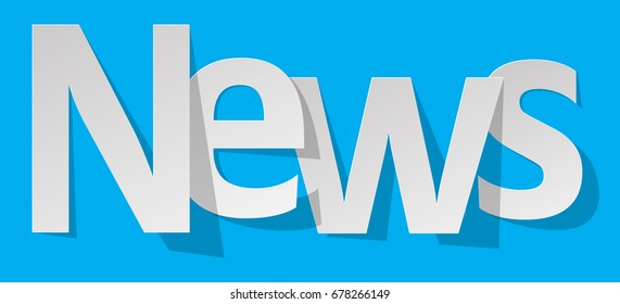 News letters banner white on a blue background.