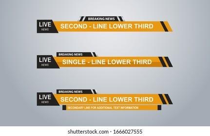 News Lower Thirds Pack Vectors