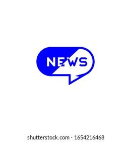 Medios de comunicación, símbolo de chat, logotipo simple vectorial