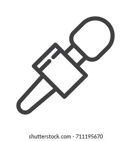 News  microphone line icon, outline vector sign, linear style pictogram isolated on white. Symbol, logo illustration. Editable stroke.Pixel perfect graphics