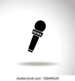News microphone vector icon.