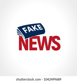 News paper with breaking fake news.  False television sign. Political news, abstract logo. Newspaper vector illustration.