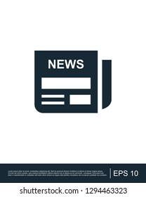 News paper breaking news icon template
