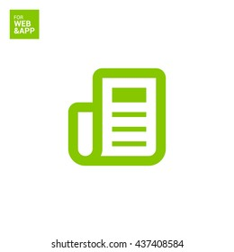 news and reviews vector app web line icon for websites and apps mobile minimalistic flat design