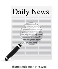News search vector illustration